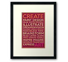 Create-Berry Framed Print