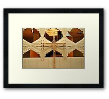 Cross, Frank Lloyd Wright Designed Chapel, Florida Southern College, Lakeland, Florida Framed Print