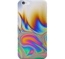 Macro photo of the surface of a soap bubble. iPhone Case/Skin