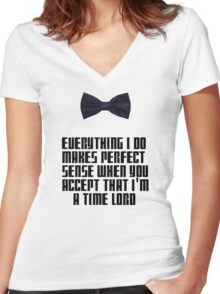 I'm a Time Lord Women's Fitted V-Neck T-Shirt