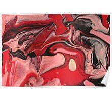 Abstract - Paint - Raspberry Nebula Poster