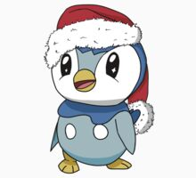 Piplup Santa Hat One Piece - Long Sleeve