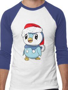 Piplup Santa Hat Men's Baseball ¾ T-Shirt
