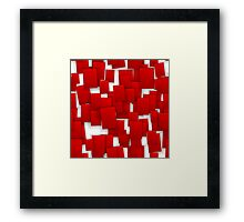 seamless red paper Framed Print