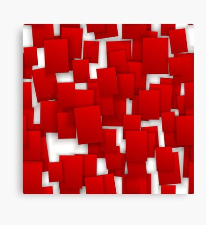 seamless red paper Canvas Print
