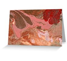 Abstract - Paint - The flow of the universe Greeting Card