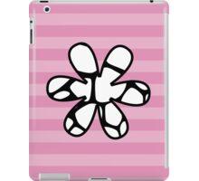 Flower, Animal Print (Giraffe Pattern) - Black White  iPad Case/Skin