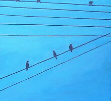 Birds, Wires 8 by eolai