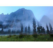 El Capitan in Fog Photographic Print