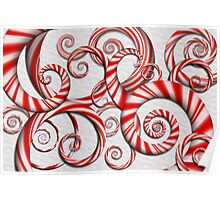 Abstract - Spirals - Peppermint Dreams Poster