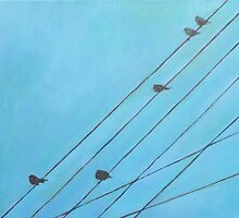 Birds, Wires 12 by eolai