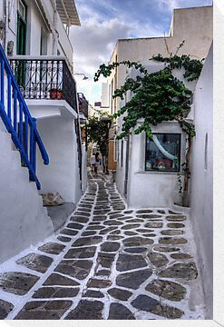 Residential Streets of Mykonos by Tom Gomez