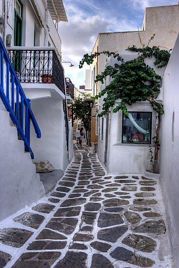 Residential Streets of Mykonos by Tom Gomez