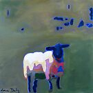 Sheep, Stone Wall by eolai