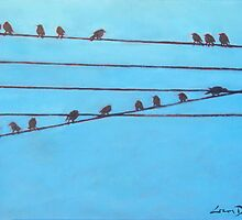 Birds, Wires 11 by eolai