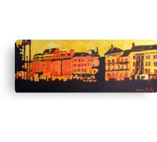 Wellington and Essex Quays, Dublin Canvas Print