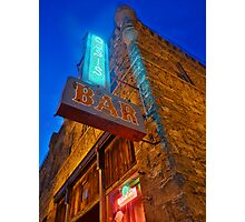 Glowing Oasis - Bar and Neon Signs at Night Photographic Print