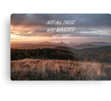 Not all those who wander 6 Metal Print