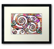 Abstract - Spirals - Wonderland Framed Print