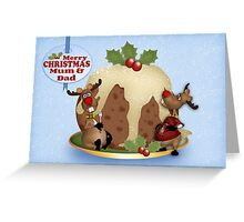 Christmas Reindeer For Mum And Dad, Greeting Card Greeting Card