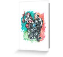 Redskull, Crossbones, Sin Greeting Card