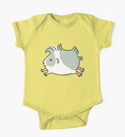 Leaping Guinea-pig ... Gray and White  One Piece - Short Sleeve