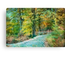 Cross over the Wooden Bridge Canvas Print