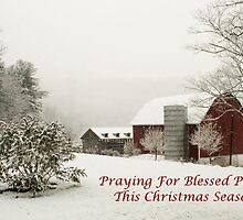 Blessed Peace Christmas Card by Penny Rinker