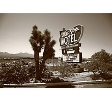 Route 66 - Hill Top Motel Photographic Print
