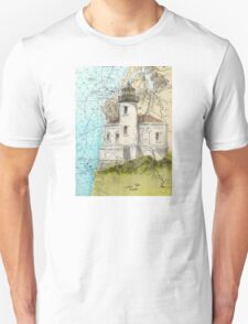 Coquille River Lighthouse OR Nautical Cathy Peek T-Shirt