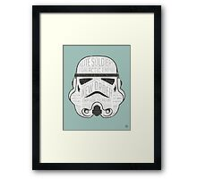 Stormtrooper trivia print infographic design Framed Print