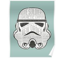 Stormtrooper trivia print infographic design Poster