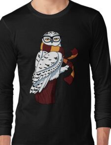 Hipster Owl Long Sleeve T-Shirt