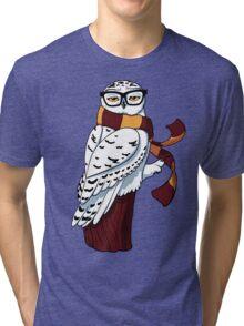 Hipster Owl Tri-blend T-Shirt