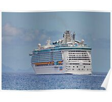 Independance of the Seas Leaving Funchal Poster