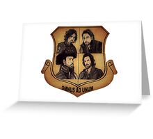 The Musketeer Shield - OMNUS AD UNUM Greeting Card