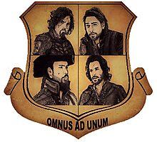 The Musketeer Shield - OMNUS AD UNUM Photographic Print