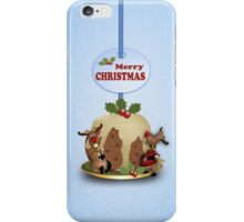 iPhone case with reindeer and pudding Merry Christmas iPhone Case/Skin
