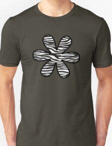 Flower, Animal Print, Zebra Stripes - Black White Unisex T-Shirt