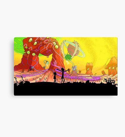 Welcome to the rick and morty world!!! Canvas Print