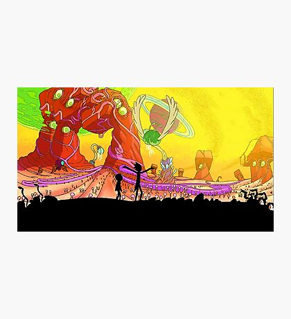 Welcome to the rick and morty world!!! Photographic Print