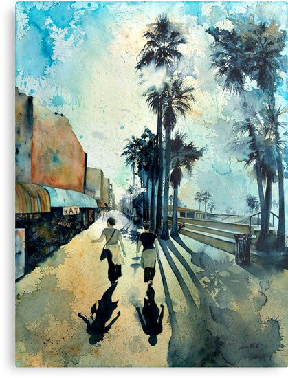 Early Morning on the Venice Boardwalk by Louisa McQ