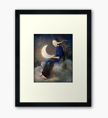 kingdom of clouds Framed Print
