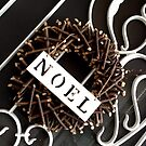 Noel Christmas Wreath by Coralie Pittman