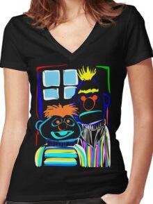 Bert & Ernie Women's Fitted V-Neck T-Shirt