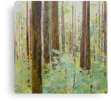 Seeing the Forest through the Trees, watercolor and mixed media on paper mounted on board, wax finish Canvas Print