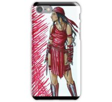 Elektra, the Red Assassin iPhone Case/Skin
