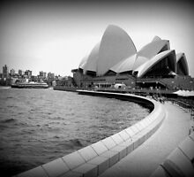 Sydney Opera House Black & White by SkatingGirl