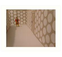 6th Doctor, Tardis corridor. Art Print