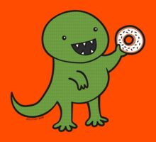 Dinosaur Loves Donuts by zoel